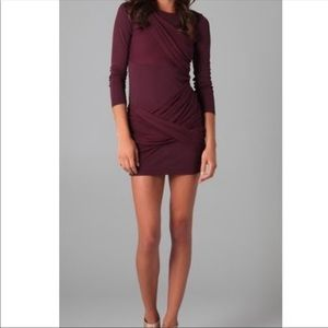 Alice + Olivia | burgundy wine goddess dress